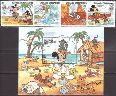 Walt Disney  MiNr. 721 - 725 (Block 101) Grenada/Grenadinen  MNH / ** / POSTFRISCH - Disney
