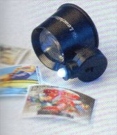 10fach Mini-Lupe Juwelier-Lupe LED-Licht Neu 10€ Prüfen Karte Briefmarke Münzen Paper Money Card LEUCHTTURM Offer In Bag - Alte Papiere