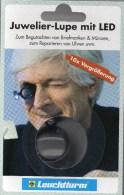 10-fach Mini-Lupe Juwelier-Lupe LED-Licht Neu 10€ Prüfen Karte Briefmarke Münze Paper Money Card LEUCHTTURM Offer In Bag - Lampade UV