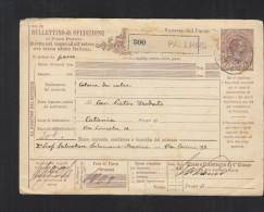Bullettino Di Spedizione 1891 Palermo - 1900-44 Victor Emmanuel III