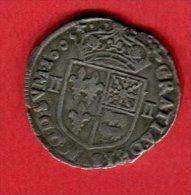 HENRI IV 1/4 ECU NAVARRE 1605 TTB 85 - 1589-1610 Hendrik IV Van Frankrijk