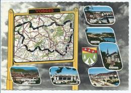 CPSM REMIREMONT, VITTEL, SAINT DIE, NEUFCHATEAU, GERARDMER, EPINAL, D'APRES CARTE MICHELIN N° 989, VOSGES 88 - France