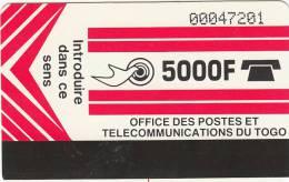 TOGO - Telecom Logo(light Red), Second Issue 5000F, Used
