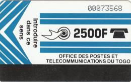 TOGO - Telecom Logo(light Blue), Second Issue 2500F, Used - Togo
