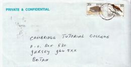 Postal History Cover: RSA Hegehog, Eagle Stamps On Cover - Eagles & Birds Of Prey