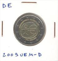 2 Euros CC UNC Allemagne / Germany 2009 UEM D - Duitsland