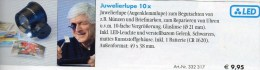 Juwelier-Lupe 10fach Mini-Lupe LED-Licht New 10€ Prüfen Karte Briefmarke Münzen Paper Money Card LEUCHTTURM Offer In Bag - Avions