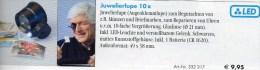 Juwelier-Lupe 10fach Mini-Lupe LED-Licht Neu 10€ Prüfen Karte Briefmarke Münzen Paper Money Card LEUCHTTURM Offer In Bag - Télécartes