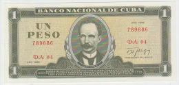 Cuba 1 Peso 1986 Pick 102c UNC