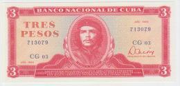 Cuba 3 Peso 1985 Pick 107a UNC