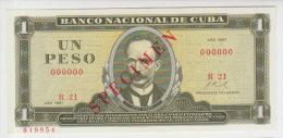 Cuba 1 Peso 1967 Pick 102 UNC Specimen