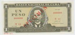 Cuba 1 Peso 1968 Pick 102 UNC Specimen