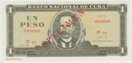 Cuba 1 Peso 1970 Pick 102 UNC Specimen