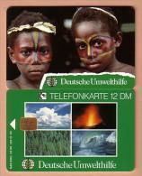 GERMANY / ALLEMAGNE / Phonecard / Deutsche Umwelthilfe / O 067 / mint / Kinder K�rperbemalung