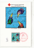 CPM GF - FDC TP ( Surtaxe Croix Rouge) - Strasbourg 1992 -  Tomi Ungerer - L'entraide - FDC
