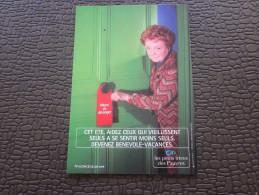 Marseille CPM Publicitaire Publicité-thème:Cet été Aidez Ceux Qui Vieillissent Seul à Se Sentir Moins Seuls-petit Frères - Werbepostkarten