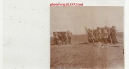Orig.Photo Allemande-Soldats Allemand Canon Hommes Pays De L´Est  (FRONT DE L´EST Guerre14-18) - War 1914-18