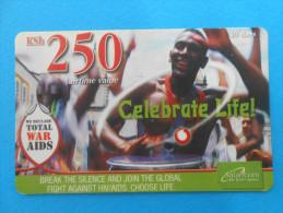 We Declare TOTAL WAR AIDS ( Kenya Prepaid Card ) Against AIDS Anti SIDA Virus HIV Hilft - Kenya