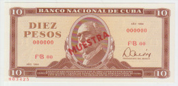 Cuba 10 Peso 1984 Pick 104 UNC Specimen