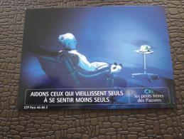Marseille CPM Publicitaire Publicité-thème:aidons Ceux Qui Vieillissent Seul à Se Sentir Moins Seuls-petit Frères Des Pa - Evénements