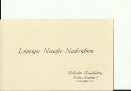 DEUTSCHLAND  --  VISITING CARD  --   LEIPZIGER NEUFTE NACHRICHTEN - Visitenkarten