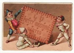 CHROMO Biscuits Lu Petit Beurre Romanet Pierrot Polichinelle - Lu