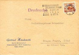 BERLIN. Enveloppe Ayant Circulé En 1951. Festival Du Film De Berlin De 1951.