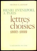 Henri Evenepoel à Paris - Lettres Choisies 1892-1899. - Livres, BD, Revues