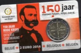 Sonder-Edition 2 EURO Coincard Belgien 2014 Stg New 30€ 150 Jahre Rotes Kreuz 2€-Münze Stempelglanz Coin Card Of Belgica - Belgique