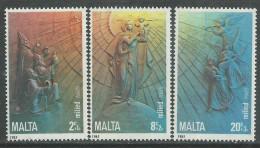 Malte N° 717 / 19  XX Noël, Surtaxe Au Profit De L'enfance. Les 3 Valeurs Sans Charnière,TB - Malta