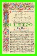 RELIGIONS - AUTOGRAFO DI S.S. PIO X, LEONCAVALLO - AVE MARIA MUSICA - CARTOLINA PRO CALABRIA No 61332 - TRAVEL IN 1907 - - Papes