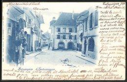 CPA Estavayer, L'hôtel De Ville, Le Café De L'Union - FR Fribourg