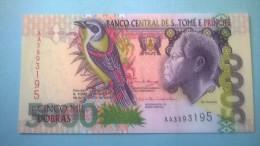 BANCO CENTRAL DE S. TOMÉ E PRINCIPE - 5.000 DOBRAS - Banconote
