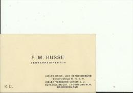 DEUTSCHLAND, KIEL  --   VISITING CARD  --   F. M. BUSSE  --  VERKEHRSDIREKTOR - Visitenkarten