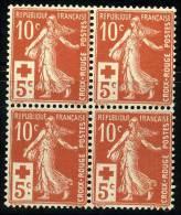 N°147 - Bloc De 4 - TB - 1906-38 Semeuse Camée