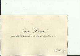 SLOVAKIA, PIESTANY  --   VISITING CARD  --  JAN ZLAMAL  --  GENERALNI TAJEMNIK A CS. STABNI KAPITAN V.v. - Visitenkarten