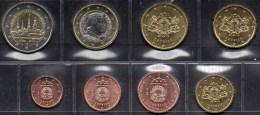 Kultur-Hauptstadt+EURO-Einführung Lettland 2014 Stg 29€ Mit Sonderedition Münze Riga Set 1C-2€ Coins Republik Of Latvija - Letonia