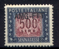 Trieste A 1949 Segnatasse 500£ Sass. S28**/MNH VF - 7. Triest