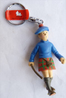 FIGURINE TINTIN MOULINSART ECOSSAIS PORTE CLES CITEL VIDEO (2) - Tintin