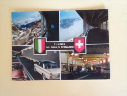 TUNNEL DEL GRAN SAN BERNARDO VIAGGIATA -11-- - Italia