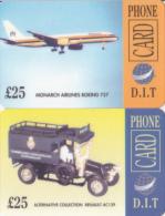 2 Cartes UK D.I.T. Thème Transports, Boeing Et Renault - Royaume-Uni