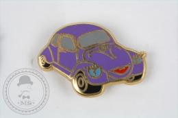 Nice  Volkswagen Beetle, Purple Colour With Eyes For Girls - Pin Badge #PLS - Volkswagen