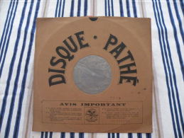 Disque Pathé Saphir 90 à 100 Tour,29cm - 5501 & 6501, Quand L'amour Meurt (Crémieux), Christmas (Margis) - 78 T - Disques Pour Gramophone
