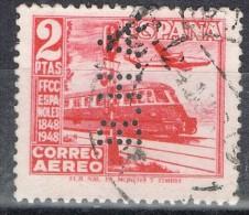 Sello 2 Pts Ferrocarril, Tren, Perforado Comercial, Perfin, Firmenlung, Num 1039 º - 1931-Hoy: 2ª República - ... Juan Carlos I