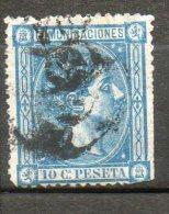 ESPAGNE  Alphonse XII 10c Bleu 1875 N°155 - 1875-1882 Königreich: Alphonse XII.