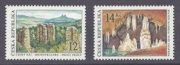Czech Republic 2003 - Cesky Raj, Trosky - Moravsky Kras - Landscapes, Geology, Caves, Grottes, Mountains, Paysages MNH - Tsjechië