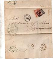1876 LETTERA CON ANNULLO BASSANO  VICENZA + CITTADELLA - 1861-78 Vittorio Emanuele II
