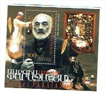 ARMENIE ARMENIA 1999, CINEASTE AVEC LOGO IBRA Nuremberg, 1 Petit Bloc, Neuf / Mint. R1560