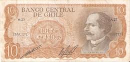 BILLETE DE CHILE DE 10 PESOS DE BALMACEDA (BANK NOTE) - Chile