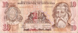 BILLETE DE HONDURAS DE 10 LEMPIRAS DEL  AÑO 2008 (BANKNOTE) - Honduras